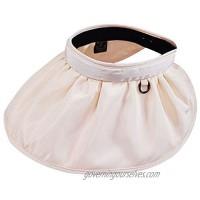 Kennedy US Womens Foldable Clip On Sun Visor Hat Large Brim Beach Cap UV Protection