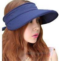 Leben LerBen Womens Casual Wide Brim 2in1 UV Traveler Summer Golf Sun Hat
