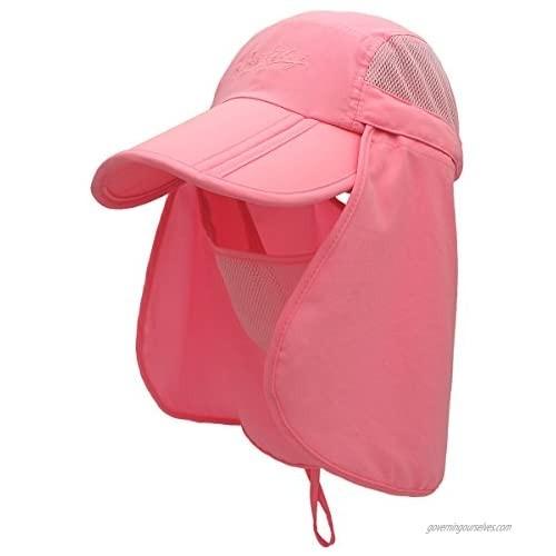 QingFangUPF 50+ Multi-Purpose Sun-Proof Wide-Brimmed Sun hat  360-degree UV Protection