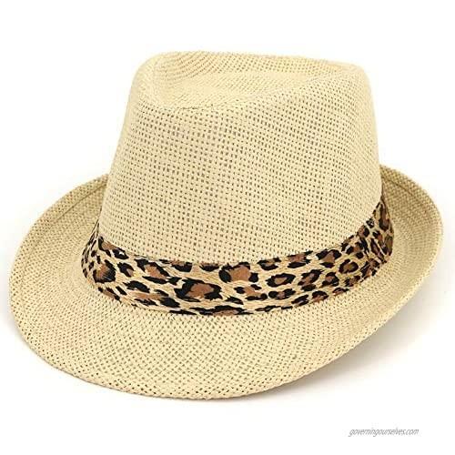 Straw Sun Hats Panama Straw Hat Beach Sun Hat Straw Fedora Hat Short Brim Beach Sun Hats Jazz Cap