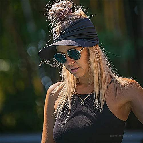 Women Summer Sun Hat Candy Color Empty Top Soft Breathable Sunscreen Hat Visor Caps Bicycle Sunshade Hats