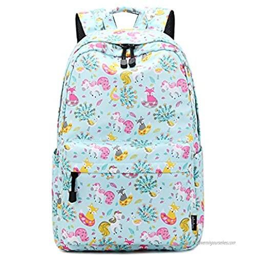 Abshoo Cute Lightweight Unicorn Backpack for Girls Kids School Backpacks (Unicorn Light Blue)