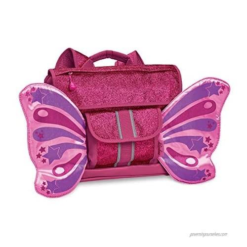 Bixbee Kids Backpack  Sparkalicious Ruby Raspberry Butterflyer