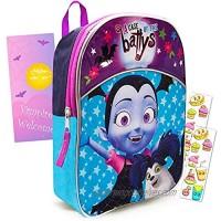 Disney Vampirina Toddler Preschool Backpack Set - Deluxe 11 Inch Mini Backpack with Stickers and Door Hanger