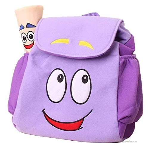 Dora Explorer Backpack Rescue Bag with Map IGBBLOVE Pre-Kindergarten Toddler Plush Backback -Purple