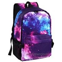 Galaxy Backpack for Women/Men School Bookbag for Girls Lightweight Travel Daypack Purple