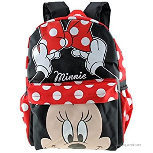 """MINNIE MOUSE - KIDS LARGE 16"""" ALL OVER PRINT BACKPACK - 12559"""