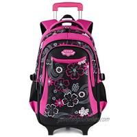Rolling Backpack for Girls  Fanspack Wheeled Backpack for Girls Backpack With Wheels Rolling Backpack for Kids Trolley School Backpack on Wheels