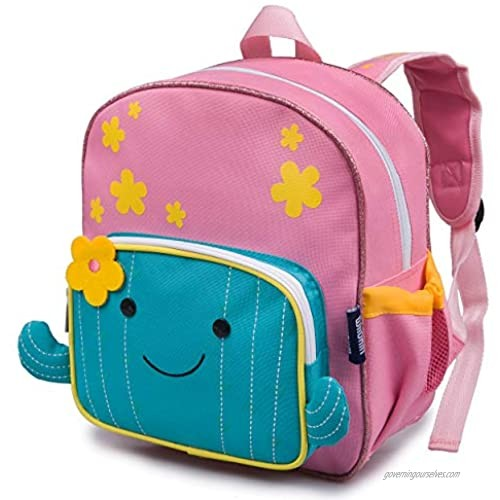 Wildkin Wild Bunch Backpack for Toddler Boys & Girls  Ideal Size for Daycare  Preschool  & Kindergarten  Perfect for School and Travel  Kids Backpacks Measures 11.75 x 10 x 4.25 Inches (Cactus)