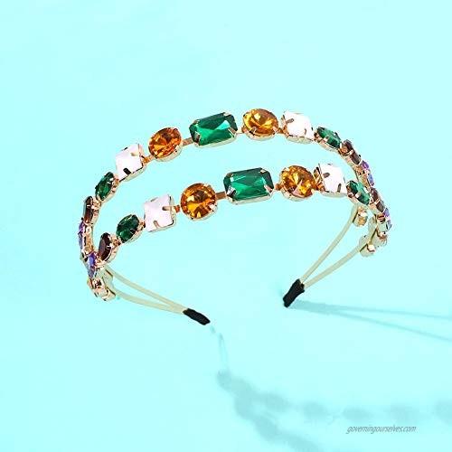 1 Pieces Rhinestone Elastic Hairband Jeweled Head Wraps for Women Jewelry Accessories Women's Handmade