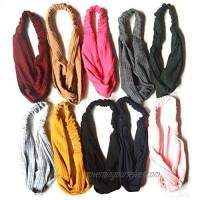 10 Pack Headbands Hair Bands for Women Girls Cross Elastic Head Wrap Twisted Hair Accessories