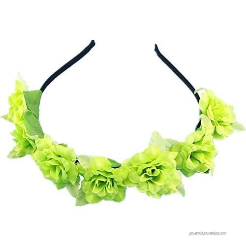 5 PCS Bohemian Flower headband Crown Floral Hair Wreath Hair Accessories for girls(BFG33-5C)