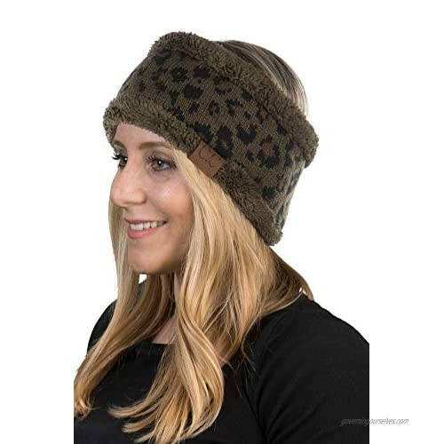Headwrap - Leopard/New Olive