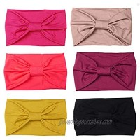 LOYALLOOK 6 Pcs Multi-Style Headbands for Women Fitness Sports Running Workout Wide Stretchy Hair Wrap for Yoga & More