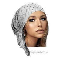 Pre-Tied Head Scarf Tichel Head Cover for Women Lightweight Cotton Collection! Over 30 Colors!