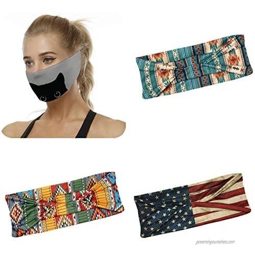 Sllrrka 4 Pack Women Headband Twisted Criss Cross Boho Head Wrap Hair Band for Yoga Sports