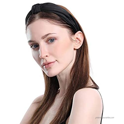 Yalice Simple Twristed Headband Knot Turban Head Wrap Elastic Hair Band Accessories for Women and Girls