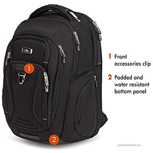 High Sierra Endeavor Business Elite Laptop Backpack Black One Size
