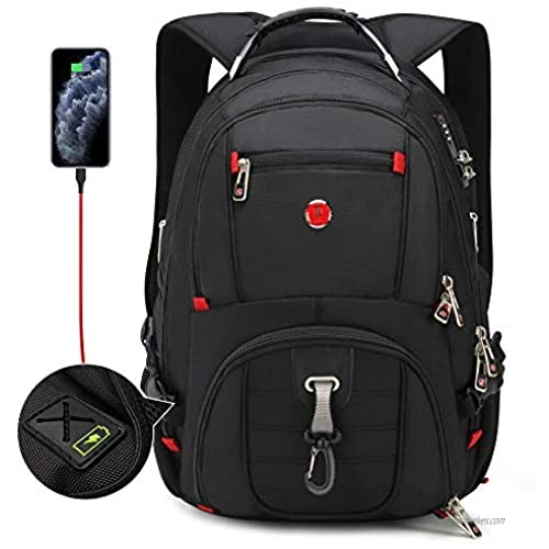 Travel TSA Friendly Laptop Backpack|Anti-Theft Bag with USB Charging Port and Combination Lock  Waterproof - Fits Most 17.3 Inch Laptops and Tablets OAA28015173B