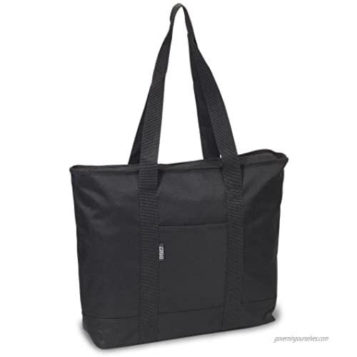 Everest Luggage Shopping Tote  Black  Black  One Size
