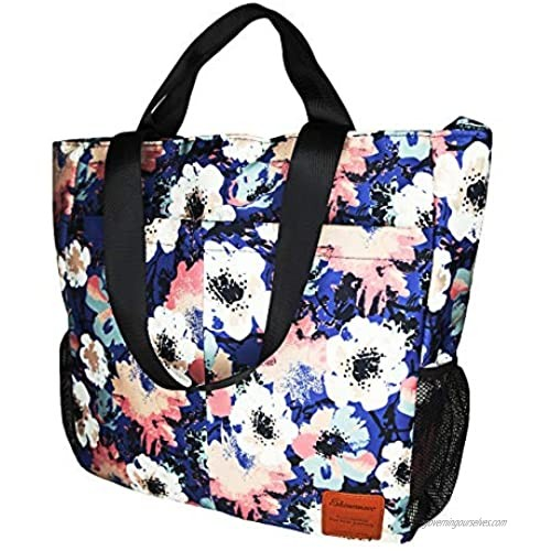 Extra Large Beach Bags w/Wet Pocket[Upgrade]丨Beach bags for women丨Beach Bag Waterproof Sandproof Beach Gear丨Tote Bags with Pockets & Zipper丨Beach Accessories for Vacation丨Water Resistant Beach Tote