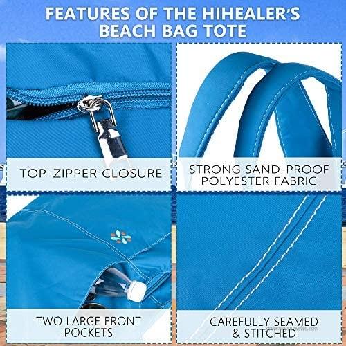 Hihealer Beach Bag Tote Bag Beach Bags for Women Lightweight Shoulder Bag Shopping Bag Great Gift for Women