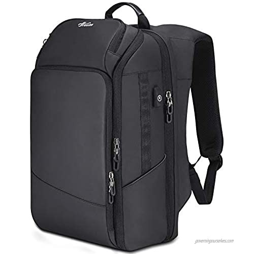 Fresion Travel Laptop Backpack for Men - Business Laptop Backpacks with USB Charging Port Water Resistant College School Computer Bag pack fits 15.6 Inch Laptops and Notebook