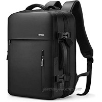 HOMIEE Carry on Travel Backpack for Men Women 38L Extra Large Hand Luggage Backpack Expandable Flight Approved Weekender Backpack Fits 15.6 Inch Laptop Black