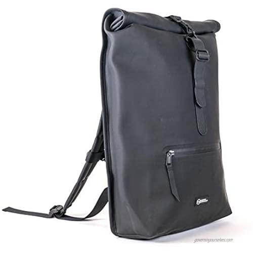 Mission Darkness FreeRoam Faraday Backpack. Stylish Roll Top Bag with Durable Water-Resistant Exterior  RF Blocking Liner  Padded Laptop Compartment  Device Isolation  Anti-Tracking  EMF Shielding