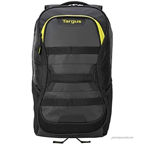 Targus Large Commuter Work and Play Large Gym Fitness Backpack with Protective Sleeve for 15.6-Inch Laptop  Black/Yellow (TSB944US)