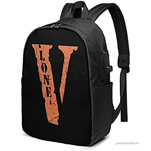 Vlone Usb Backpack 17 In Suitable For School Outdoor Use