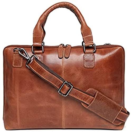 Elegante Apollo Unisex Handmade Genuine Leather Messenger Bag Laptop Briefcase Computer Satchel bag