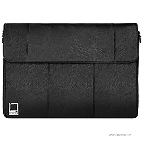 Lencca Axis 15 Slim Compact Laptop Briefcase Crossbody Shoulder Bag for Dell Inspiron 14 15  Latitude 14 15  Precision 15  Precision Mobile Workstation  XPS 15 Series 14  15.6 inch Laptop
