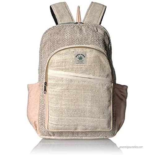 100% Pure Hemp Multi Color Backpack Handmade Nepal with Laptop Sleeve - Fashion Cute Travel School College Shoulder Bag/Bookbags/Daypack