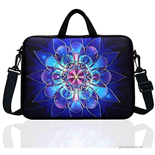 """14-Inch Laptop Shoulder Bag Sleeve Case With Handle For 13"""" 13.3"""" 14"""" 14.1"""" Netbook/Macbook Air Pro (Classic Blue)"""