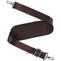 59 Inch Universal Shoulder Strap BOMKEE Adjustable Bag Strap Replacement with Metal Swivel Hooks and Non-Slip Pad for Laptop Case Briefcase Messenger Bag Diaper Bag Camera Bag Travel Bag(Brown)