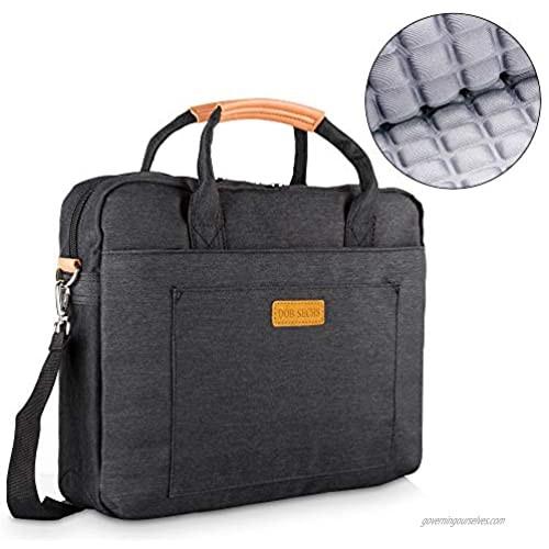 DOB SECHS 17 inch Laptop Bag  Water-Repellent Shoulder Messenger Bag Durable Office Bag  Business Briefcase for Men Women  Carry On Handle Case for Computer/Notebook/MacBook Black