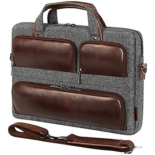 "DOMISO 17 Inch Laptop Shoulder Bag  Messenger Briefcase Multifunction Carrying Handbag for 17.3"" notebook computers  HP Pavilion 17/MSI GS73VR Stealth Pro  Lenovo/Acer/HP/ASUS Business Luggage Strap"