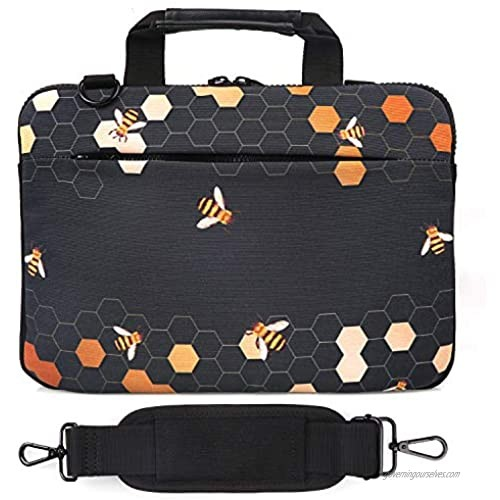 Holilife 14-15.6 Inch Laptop Shoulder Bag  Protective Notebook Messenger Briefcase Compatible with MacBook Air MacBook Pro Ultrabook Chromebook  Bee