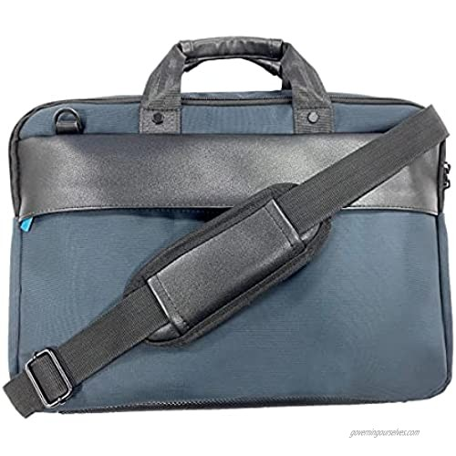 Ny-trend Laptop Bag  Business Briefcase for Men Women  Water Resistant Messenger Shoulder Bag with Strap  Durable Office Carry On Handle Case for Computer/Notebook/MacBook Navy blue (15.1inch)