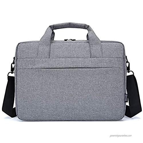 Tinaforld Laptop Bag 14-15.6 Inch Briefcase Shoulder Messenger Bag Water Repellent Laptop Bag Satchel Tablet Bussiness Carrying Handbag Laptop Sleeve for Women and Men (15.6Inch  Grey)