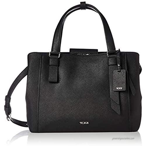 TUMI - Varek Pearl Leather Laptop Tote - 12 Inch Computer Bag for Men and Women - Black