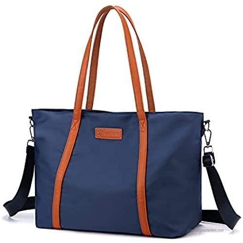 VOGUZY Women Laptop Tote Bag Nylon Handbag Purse Work Bags